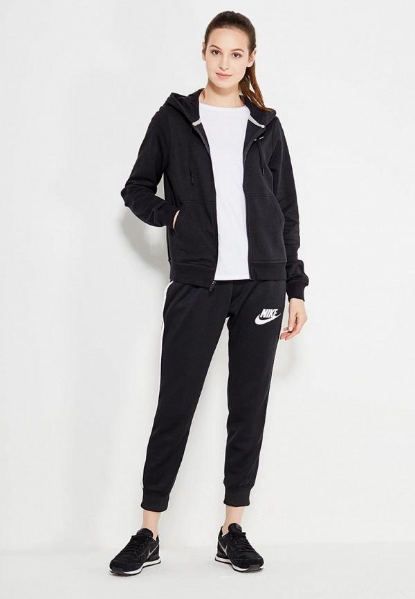 Фото 2 - женскую толстовку или олимпийку Nike черного цвета