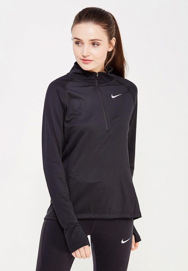 Купить Лонгслив спортивный Nike, W NK TOP CORE HZ MID, NI464EWUHC55, черный, Весна-лето 2018