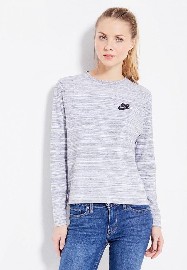 Купить Лонгслив Nike, W NSW AV15 TOP LS KNT, NI464EWUHE33, серый, Осень-зима 2017/2018