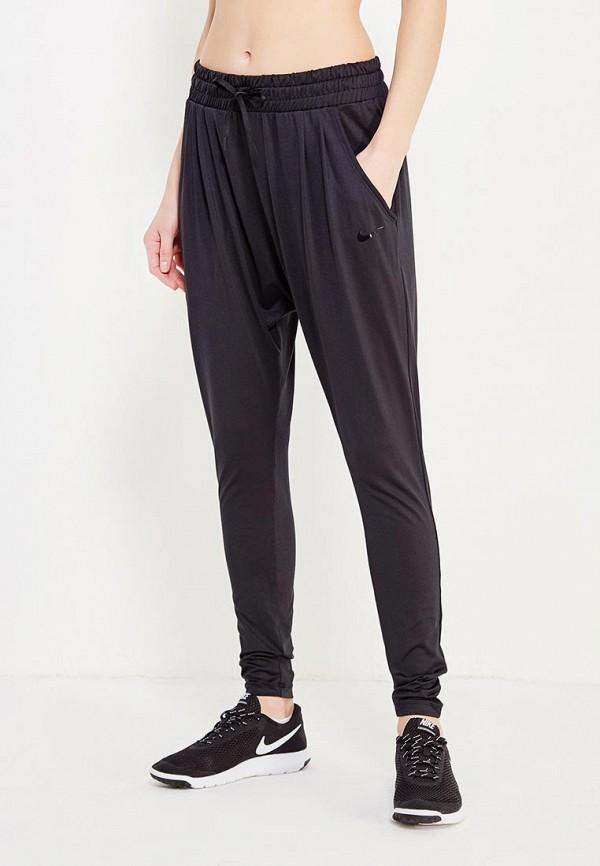 женские спортивные спортивные брюки nike, черные