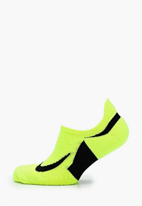 Купить Носки Nike, Dry Elite Cushioned No-Show, ni464fuaado7, желтый, Весна-лето 2018