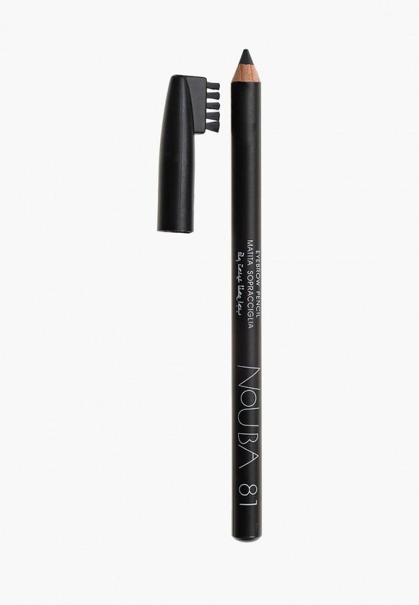 карандаш для бровей nouba, серый