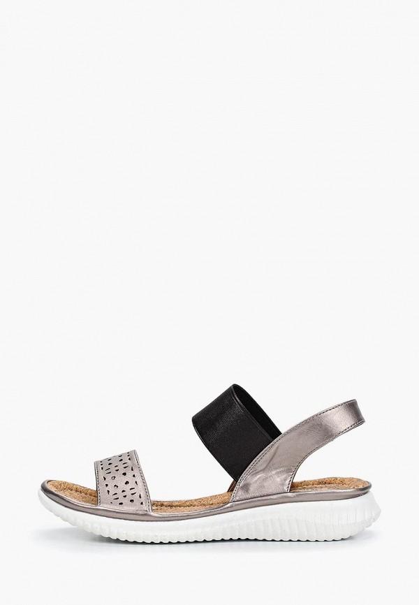 женские сандалии nobbaro, серые