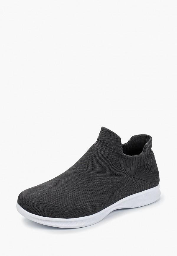 Фото 2 - женские кроссовки Nobbaro серого цвета