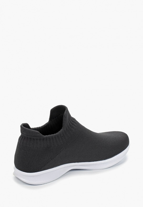 Фото 3 - женские кроссовки Nobbaro серого цвета