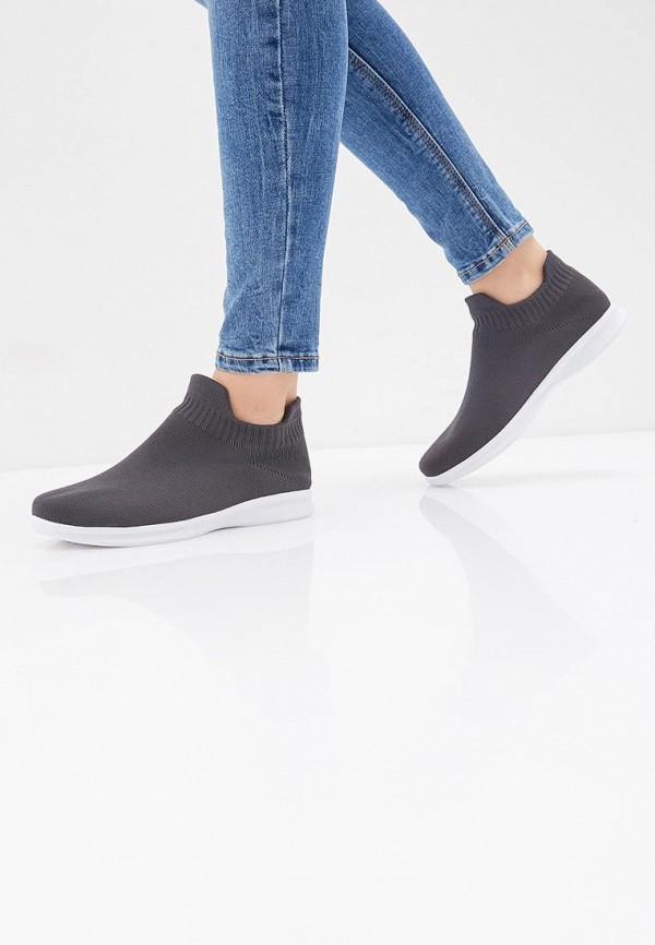 Фото 6 - женские кроссовки Nobbaro серого цвета