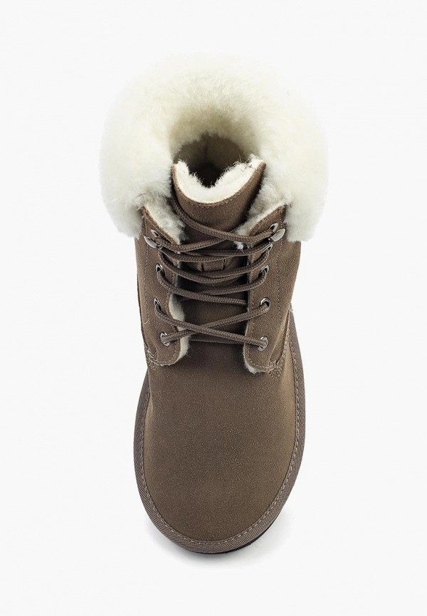 Фото 4 - женские ботинки и полуботинки Nobbaro коричневого цвета