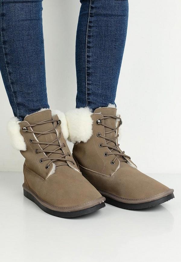 Фото 5 - женские ботинки и полуботинки Nobbaro коричневого цвета