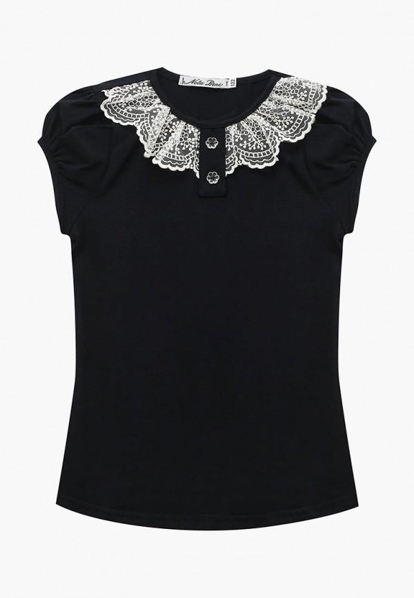 футболка с коротким рукавом nota bene для девочки, синяя