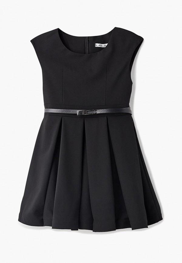 повседневные платье nota bene для девочки, черное