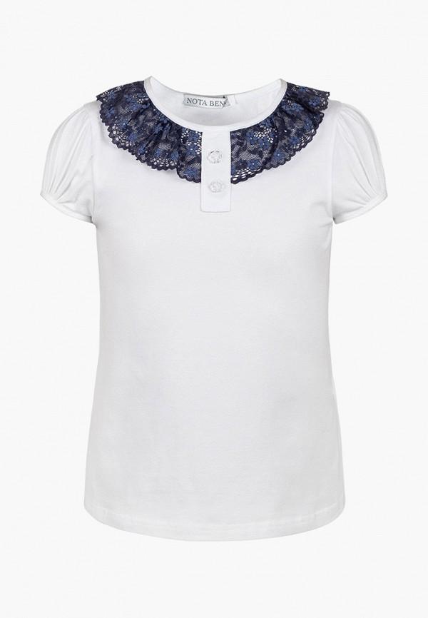 футболка nota bene для девочки, белая