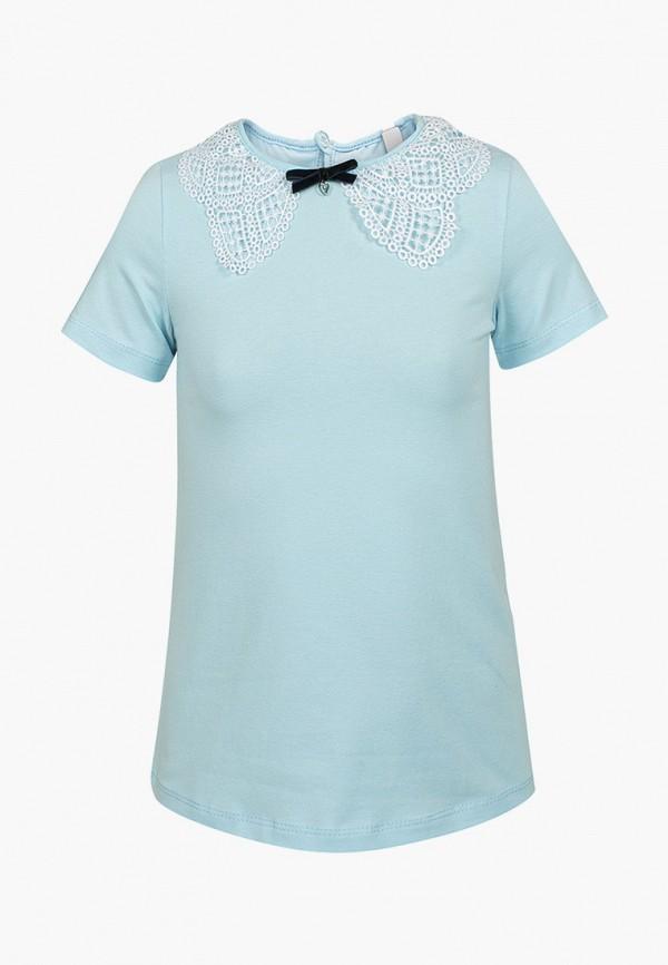 блузка nota bene для девочки, голубая