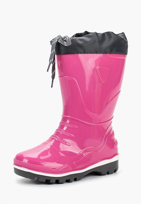 резиновые сапоги nordman для девочки, розовые