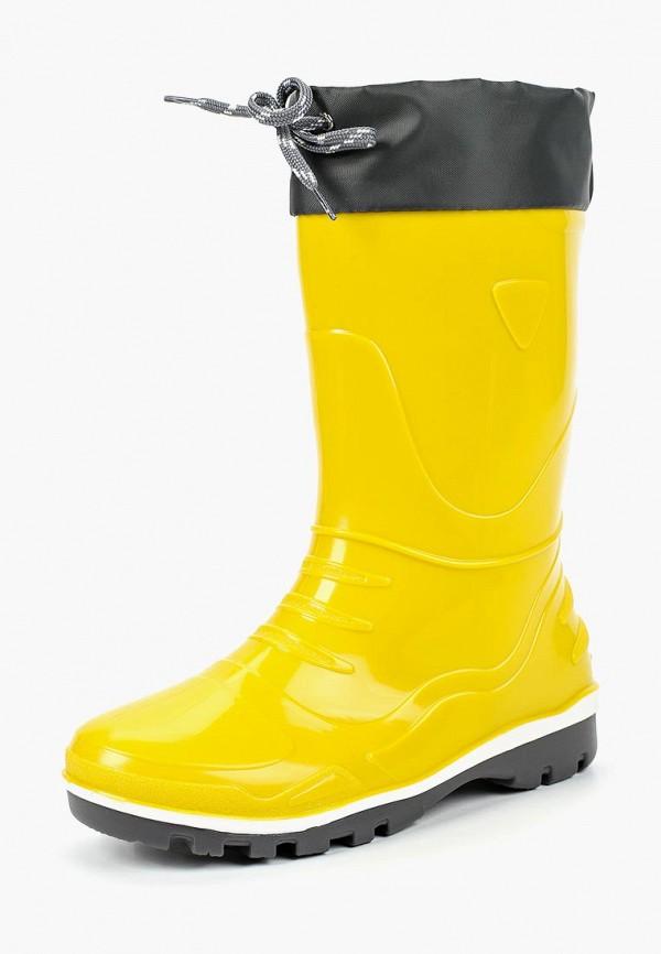 резиновые сапоги nordman для девочки, желтые