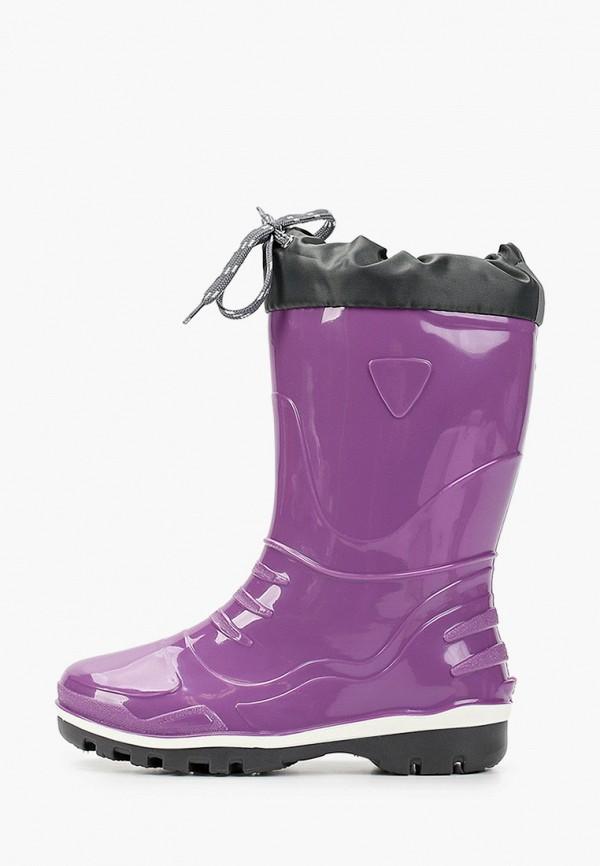 резиновые сапоги nordman для девочки, фиолетовые