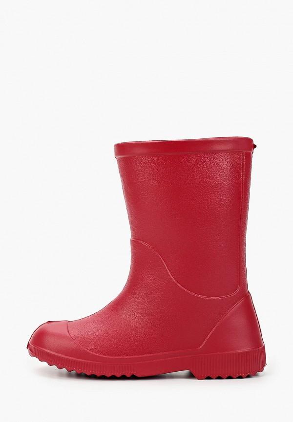 резиновые сапоги nordman для девочки, красные