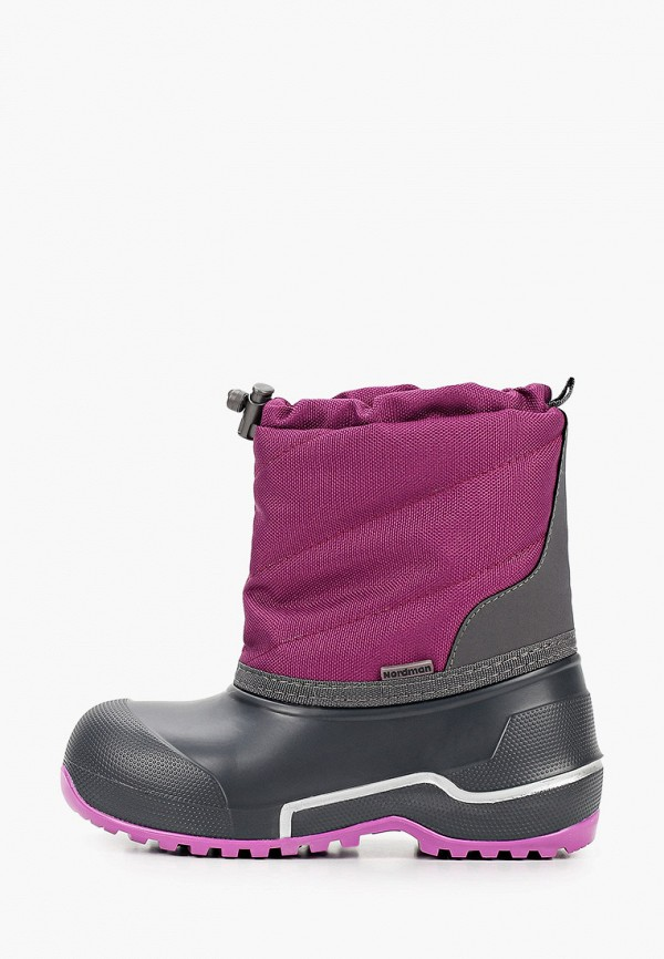 сапоги nordman для девочки, фиолетовые