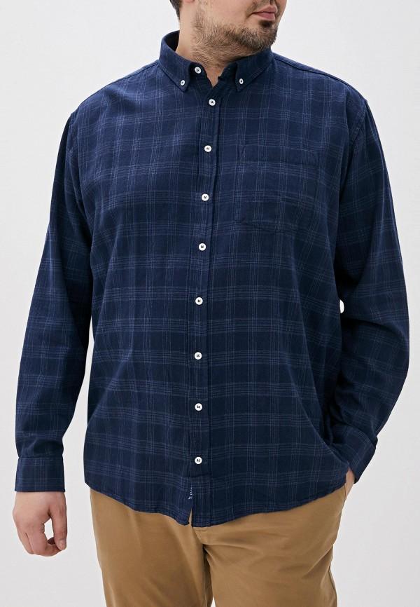 мужская рубашка с длинным рукавом north 56-4, синяя