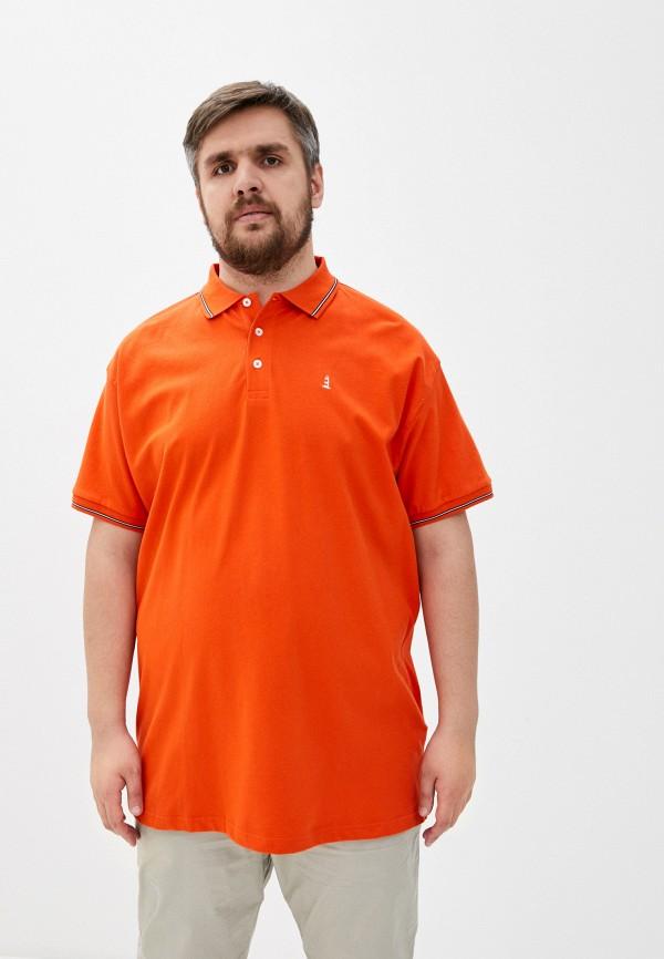 мужское поло north 56-4, оранжевое