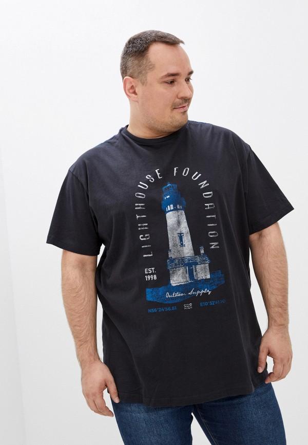 мужская футболка north 56-4, черная
