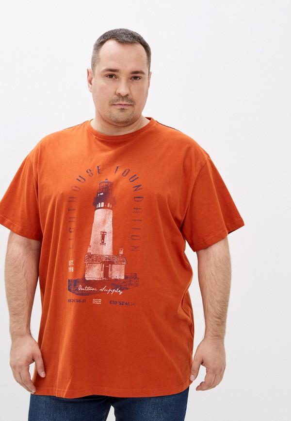 мужская футболка north 56-4, оранжевая