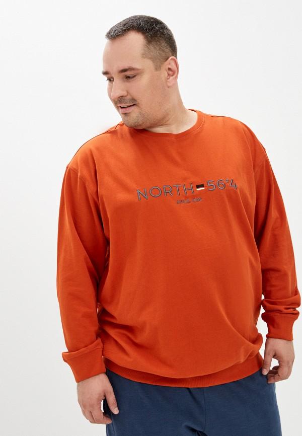 мужской свитшот north 56-4, оранжевый