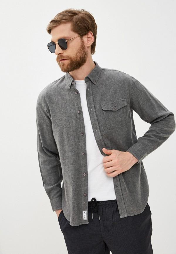 мужская рубашка с длинным рукавом nordam, серая