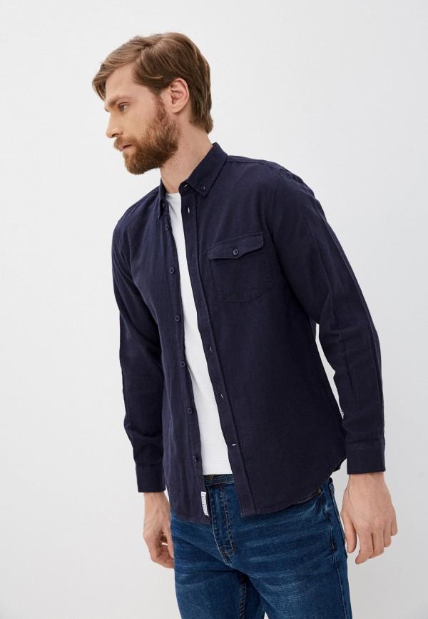 мужская рубашка с коротким рукавом nordam, синяя