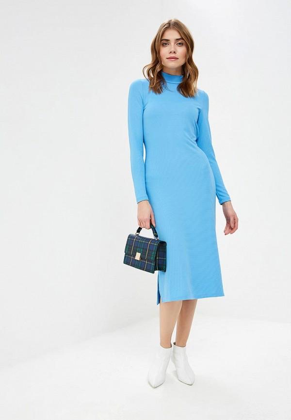 женское повседневные платье noisy may, голубое