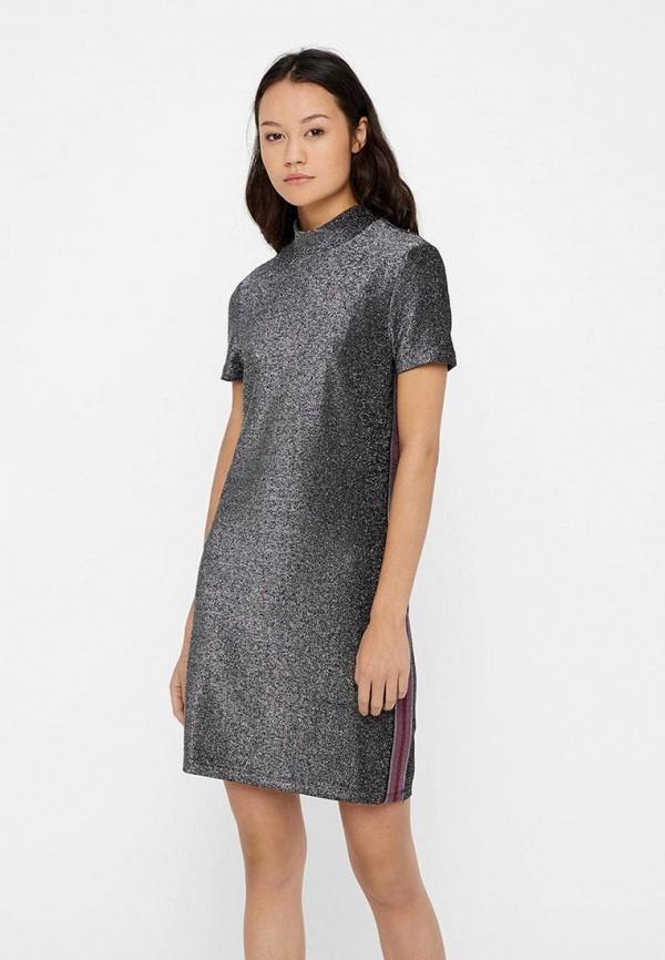 женское повседневные платье noisy may, серебряное