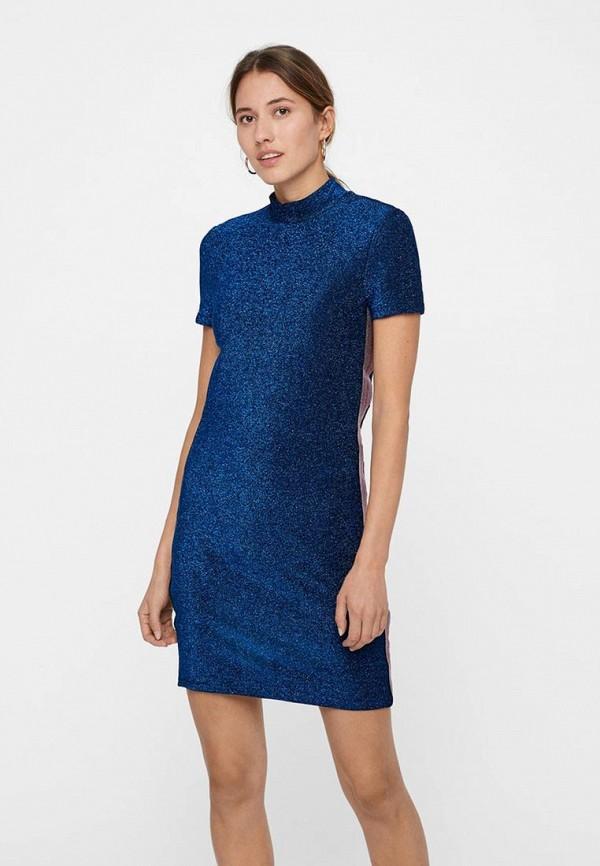 женское повседневные платье noisy may, синее