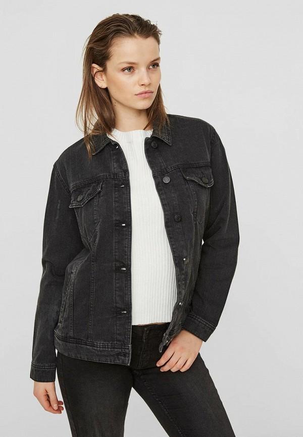 женская джинсовые куртка noisy may, черная