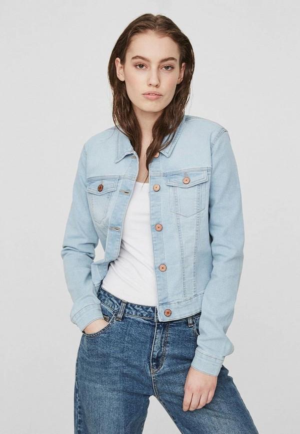 женская джинсовые куртка noisy may, голубая