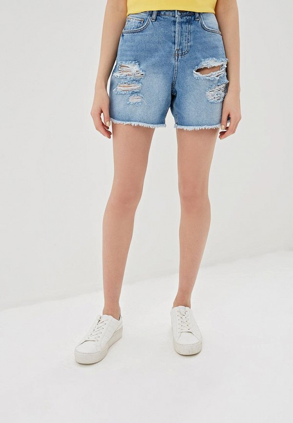 женские джинсовые шорты noisy may, голубые