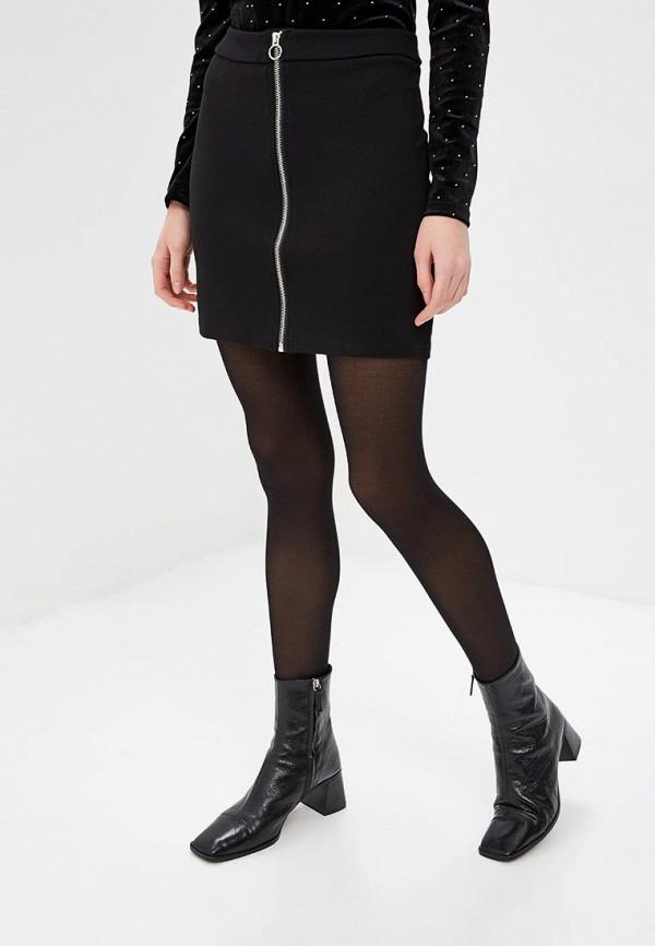 женская прямые юбка noisy may, черная