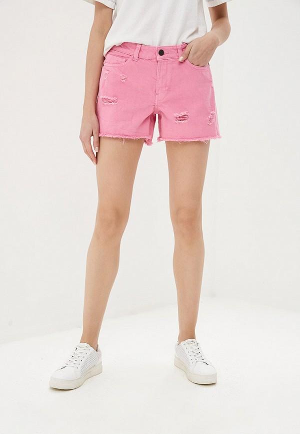 женские джинсовые шорты noisy may, розовые
