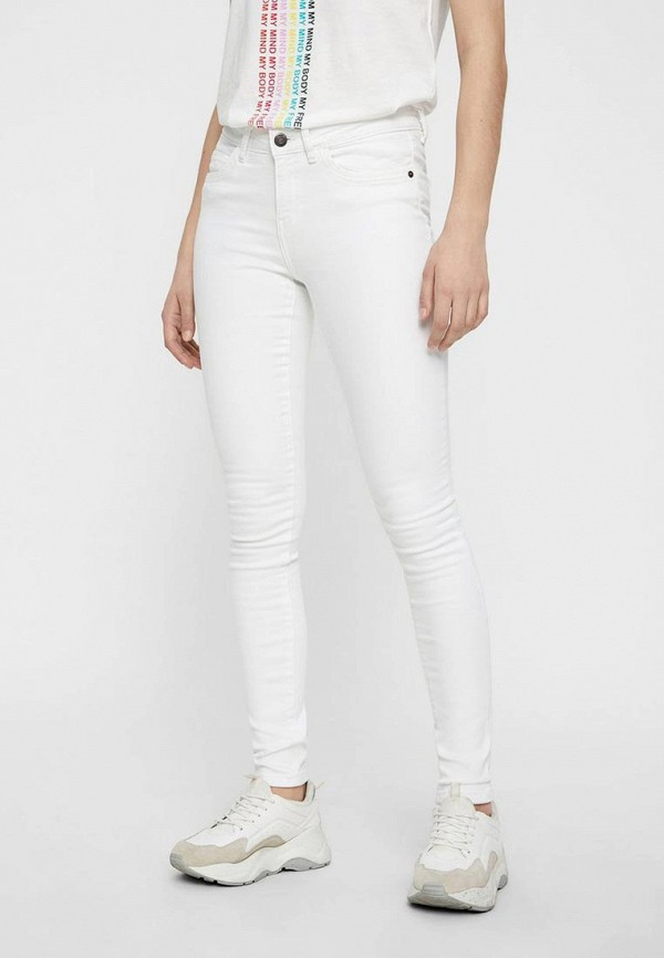женские джинсы noisy may, белые
