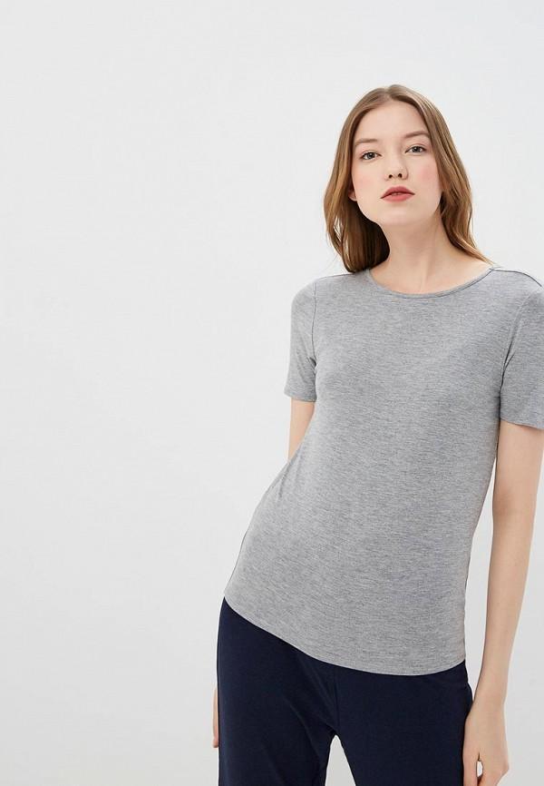 женская футболка noisy may, серая