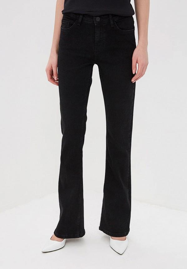 женские джинсы клеш noisy may, черные