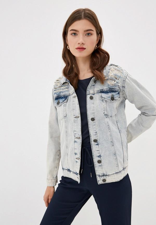 женская куртка noisy may, голубая