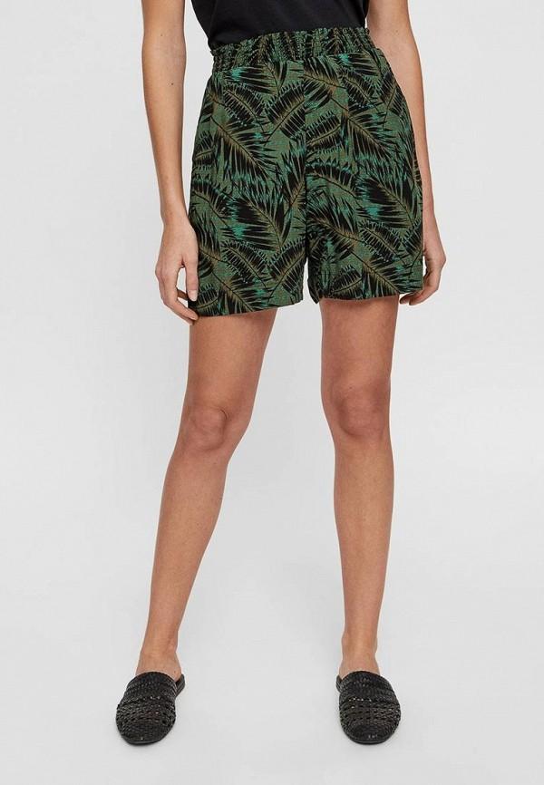 женские повседневные шорты noisy may, зеленые
