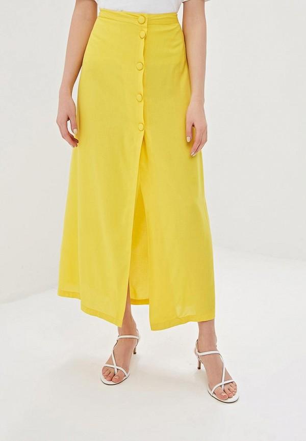женская юбка noisy may, желтая