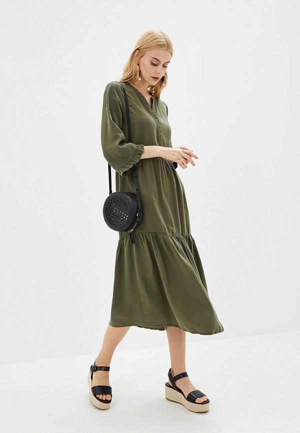 женское повседневные платье noisy may, хаки
