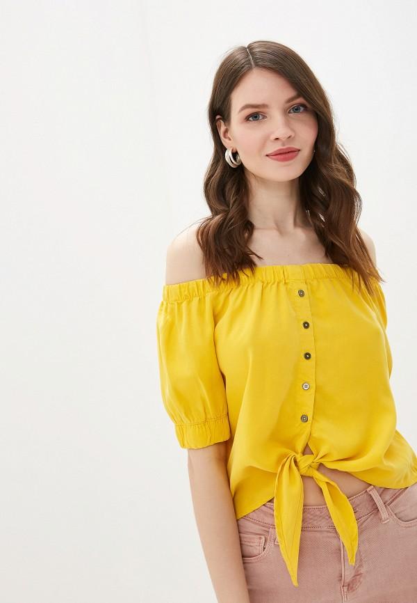 женская блузка noisy may, желтая
