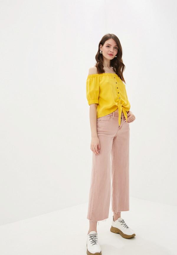 Фото 2 - женскую блузку Noisy May желтого цвета