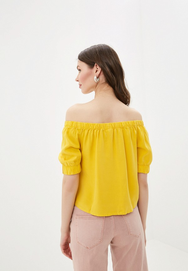 Фото 3 - женскую блузку Noisy May желтого цвета