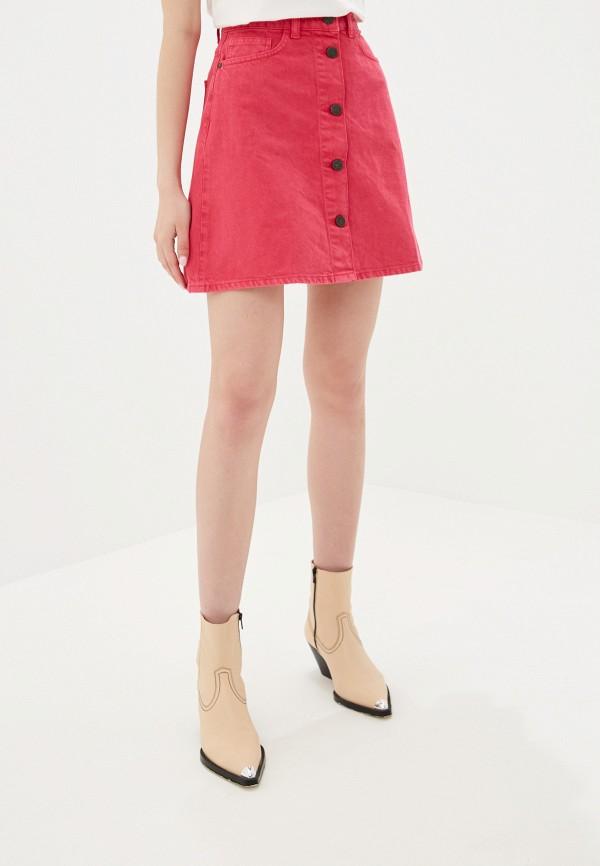 женская юбка noisy may, розовая