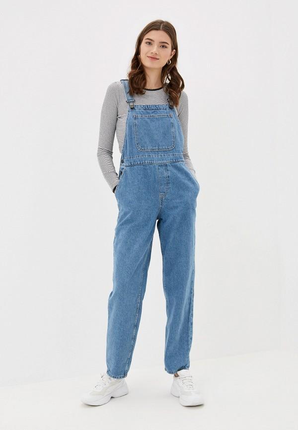 женский джинсовые комбинезон noisy may, синий