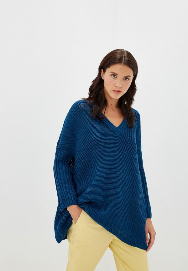 женский пуловер noisy may, синий
