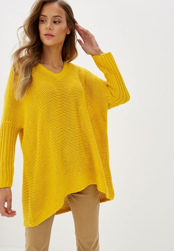 женский пуловер noisy may, желтый